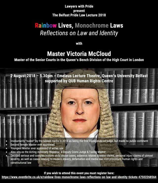 Belfast Pride Law Lecture 2018