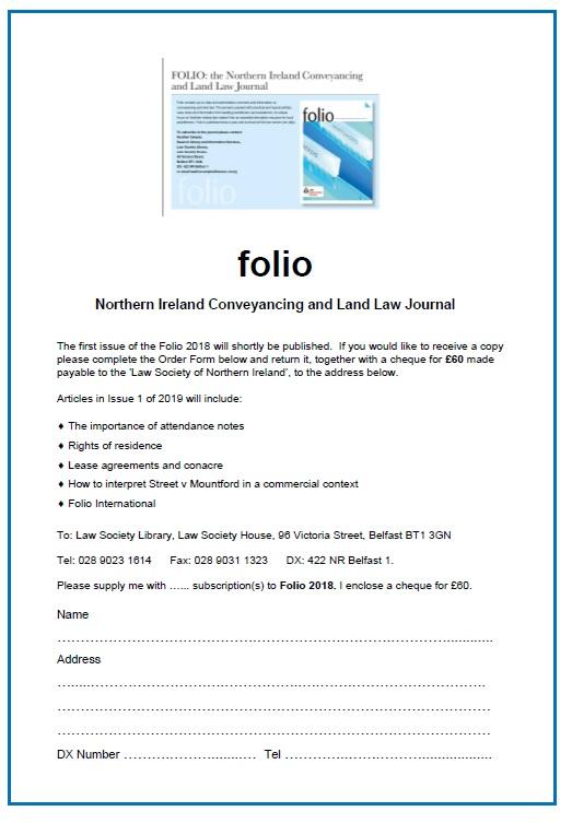Folio - Subscribe now