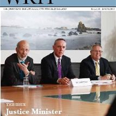 NEW WRIT MAGAZINE PUBLISHED - JUSTICE MINISTER ADDRESSES COUNCIL