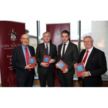 Rowan White, Law Society Council Member, Judge Colton, Stephen Fitzpatrick, author and Alan Hunter, Chief Executive of the Law Society