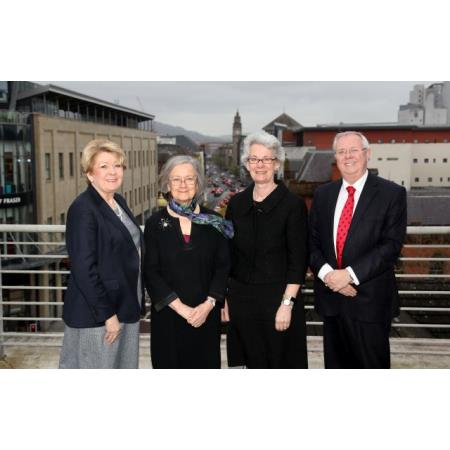 President, Eileen Ewing, Lady Hale, President of the UK Supreme Court, Lady Black, UK Supreme Court & Alan Hunter Chief Executive of Law Society of Northern Ireland
