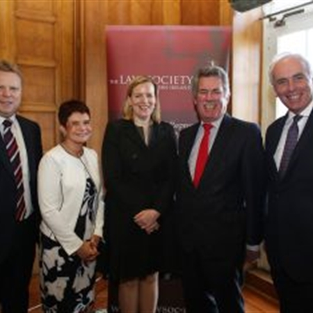 Law Society President, speakers and MLA's