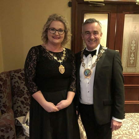 Picture -President Mark Murnin, Chairman, Newry, Mourne & Down Council.
