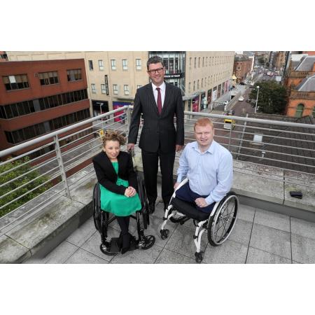 In photo from left to Right - Laura Lee Jenkins, Chair of the new group, President of the Law Society, John Guerin and Andy Allen MLA