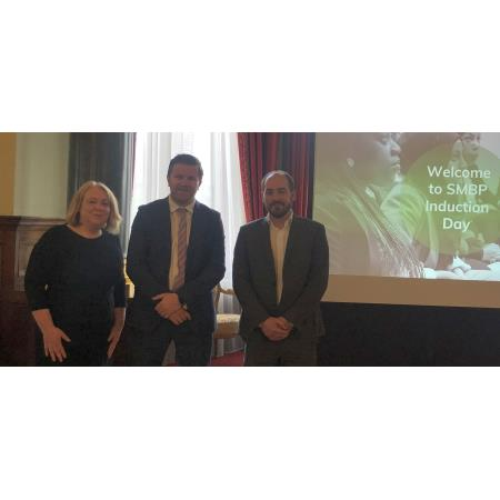 Clodagh Hegarty, Dr Frank Geddis and Conor McKillop SMBP