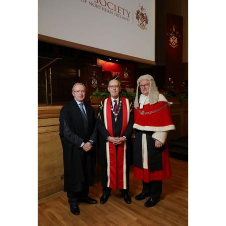 David A Lavery CB, Chief Executive, Rowan White President, Lord Chief Justice, Sir Declan Morgan