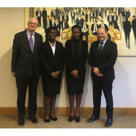 David Gaston, Judge, Abena Aduse-Poku, QUB, Doreen Awuah, QUB and Colin Mitchell, Judge