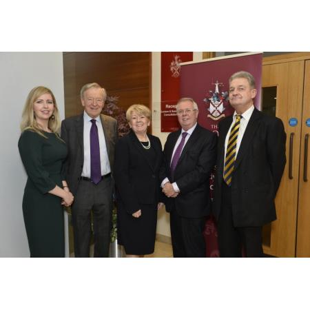 Maria McCloskey Chair of IPG, Lord Dubs, Eileen Ewing, President of LSNI, Alan Hunter, CEO and The Honourable Mr Justice McCloskey