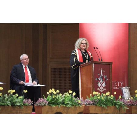 President, Suzanne Rice giving her key note address at the Admissions Ceremony 2019