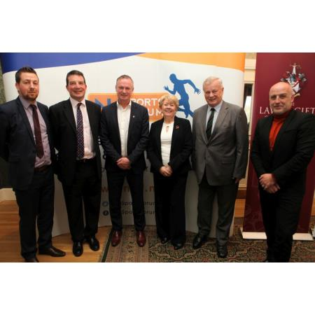 Ciaran Kearney, Keith McGarry, Micahael O'Neill, Eileen Ewing, Judge Ken Nixon and Mark Sidebottom