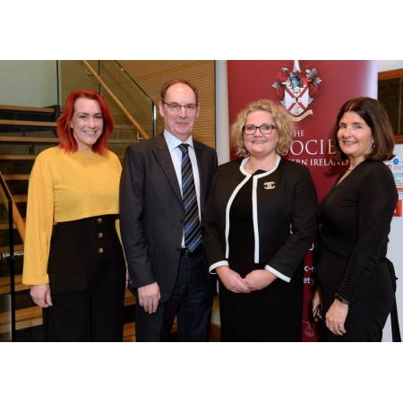 Zoe Lodrick, Psychotherapist, Mr Justice O'Hara, Suzanne Rice, President and Fiona Donnelly, Chair COPAB