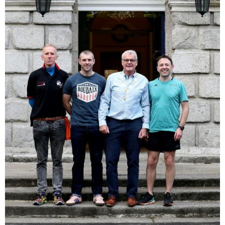 Peter Jack, Darren Toombs with Patrick Dorgan, President of the Law Society of Ireland and Adam Wood