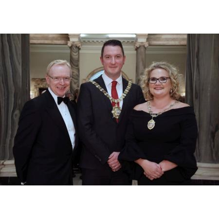 Mr David Lavery CB, John Finucane and Suzanne Rice President