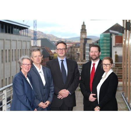 Linda Johnston, Solicitor, Dr Julian Sheather (PhD),  Ian Huddleston, President, Law Society of Northern Ireland, Eddie Lynch, Commissioner for Older People, Dr Barbara English
