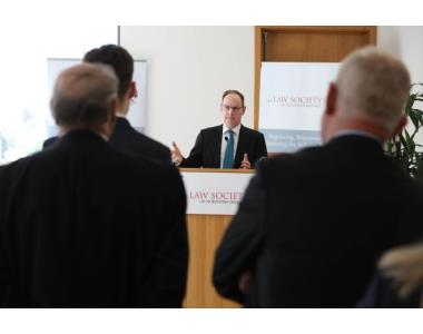 The Honourable Mr Justice O'Hara speaking at the launch of 'Divorce and Ancillary Relief in Northern Ireland.