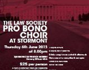 PRO BONOR CHOIR TO PERFORM AT STORMONT