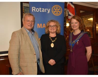 Rotary past President retired Judge Ken Nixon, Suzanne Rice, President of the Law Society and President Karen Blair.