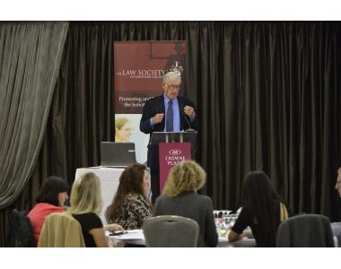 His Honour Judge Nick Crichton speaking at the Children Order Conference in Belfast on the theme of Drug/Alcohol Courts.