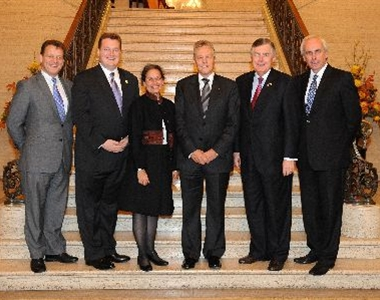 AMERICAN BAR WELCOMED BY LAW SOCIETY AND FIRST MINISTER