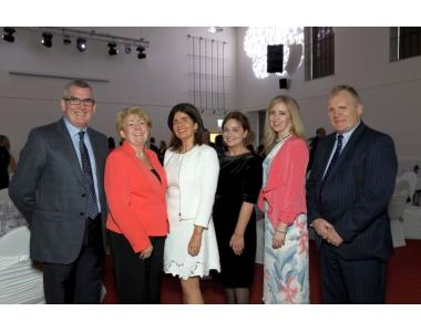 His Honour Judge Kinney, Eileen Ewing, President of Law Society, Fiona Donnelly, Advocacy Chair, Her Honour Judge Smyth, Maria McCloskey and Stephen Scott