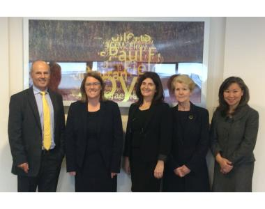 Mr Justice Horner, Madam Justice McBride, Fiona Donnelly,Judge Gemma Loughran, Doris Cheng