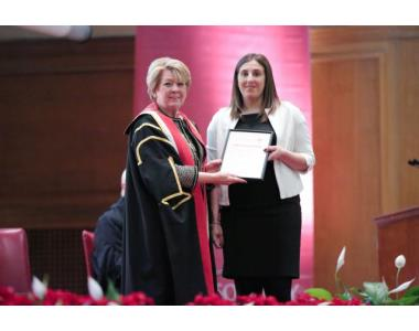 Clare Holmes, for excellence in the Solicitors Accounts Course 2018