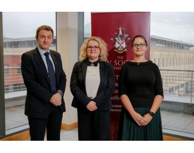 Professor Colin Harvey, QUB, Law Society President Suzanne Rice, Sonia Lenegan, Immigration Law Practitioner's Association (ILPA)