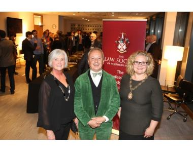 Ann McMahon. LSNI, Vincent Asselineau, Chair of the ECBA, Suzanne Rice, President, LSNI