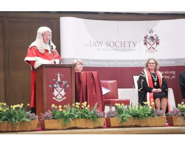 Lord Chief Justice, Sir Declan Morgan addressing newly admitted solicitors