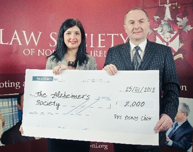 LAW SOCIETY CHOIR RAISE £2000 FOR THE ALZHEIMER'S SOCIETY