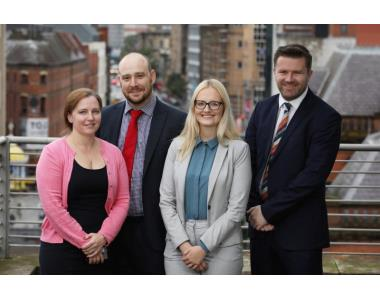 Jenny Pickrell, Paul Norris, Jess Stonehouse from MOJ joined Dr Frank Geddis, Law Society