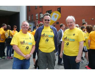 Alan Hunter, CEO LSNI, Ian Huddleston, President LSNI and the Lord Chief Justice Sir Declan Morgan
