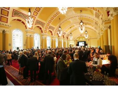 Attendees at the Welcome Reception in the Great Hall