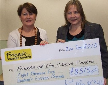 SOCIETY RAISES £10,000 FOR FRIENDS OF THE CANCER CENTRE CHARITY