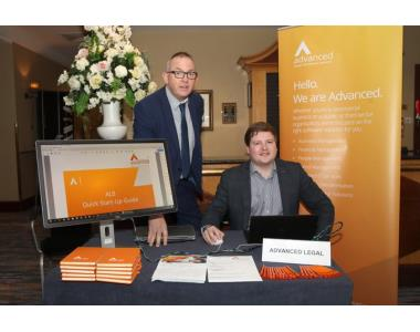 Jimmy Scullion, General Manager and Sean Mc Caughey from Advanced Legal attending the Conveyancing Conference 2019