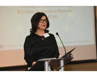 Fiona Donnelly, EU regional Coordinator of the #tradata GDPR events addressing the audience