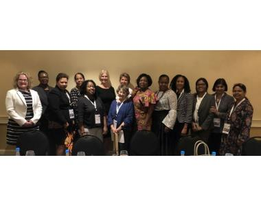 President, Suzanne Rice with CLA attendees