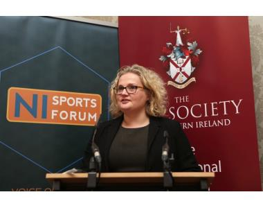 Suzanne Rice, President of Law Society of Northern Ireland speaking at the Sports Law Conference 2019