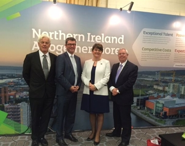 From left to right, Norville Connolly, John Guerin, Arlene Foster, Alan Hunter