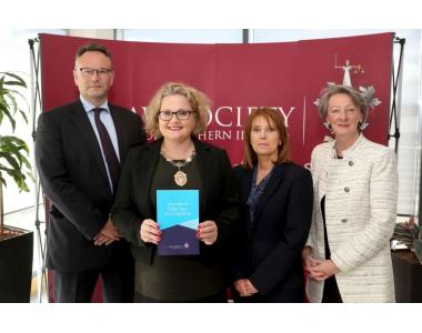 Mr Justice Huddleston, President of Law Society, Suzanne Rice, Brigid Napier, Editorial Board Chair, Linda Johnston, Editorial Panel Chair.