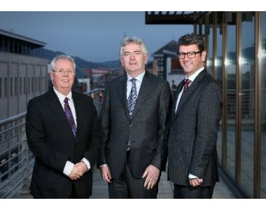 Alan Hunter, Chief Executive, Mr Justice Colton, John Guerin, President