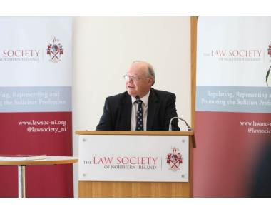 Michael Long QC speaking at the launch of 'Divorce and Ancillary Relief in Northern Ireland.