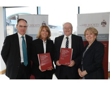 The Honourable Mr Justice O'Hara, Linda Robinson BL, Michael Long QC, Eileen Ewing, President of the Law Society