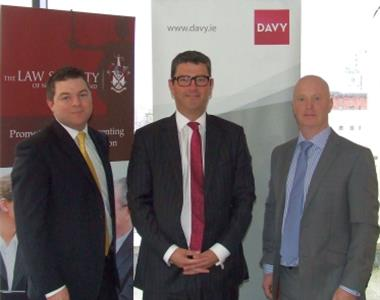 Chris English, Davy Private Clients, John Guerin, President of the Law Society and Conor Cahalane, Davy Private Clients
