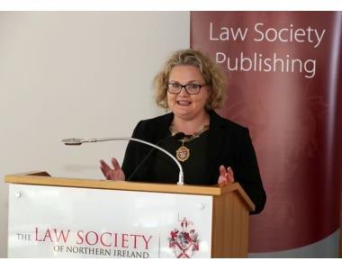 President Suzanne Rice speaking at the launch of new journal