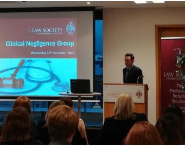 Patrick Mullarkey newly elected Chair of the Clinical Negligence Practitioners Group