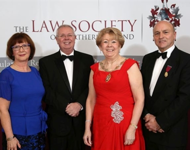 Anne McCleary, Alan Hunter, CEO the Law Society of Northern Ireland, Eileen Ewing, President of the Law Society of Northern Ireland and Donald Eakin