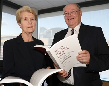 Authors Judge Gemma Loughran & Michael Long QC at the launch of their new book