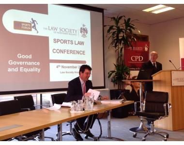 The Rt Hon Lord Justice Weatherup opens the 5th Sports Law Conference.
