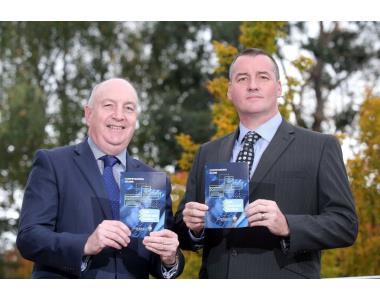 Alan Reid, Law Society and Detective Chief Inspector Michael Harvey from PSNI Cyber Crime Centre launch new Call Check and Confirm leaflet.jpg